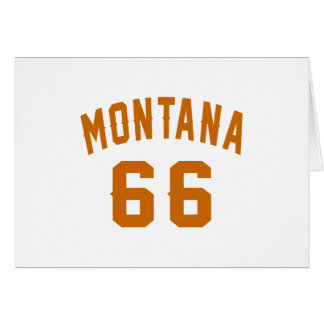 Montana 66 diseños del cumpleaños tarjeta