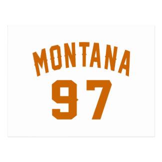 Montana 97 diseños del cumpleaños postal