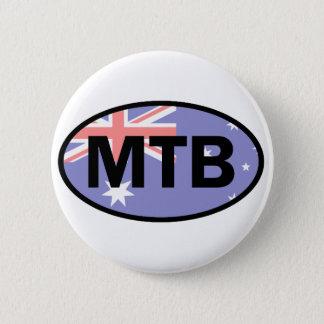 Montaña Biking la bandera de Australia Chapa Redonda De 5 Cm