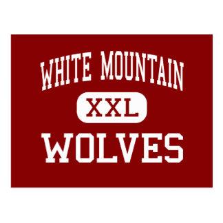 Montaña blanca - lobos - centro - ciudad blanca postal