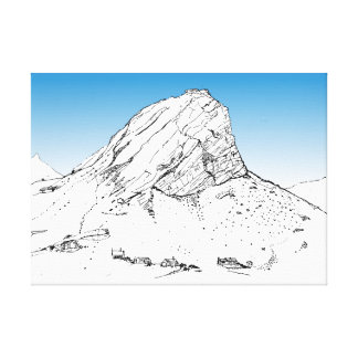 Montaña de la Caída-Klip de Klein, Rooiels. Cielo Impresión En Lienzo