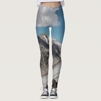 Montaña de la nieve leggings