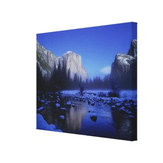 Montaña del EL Capitan, parque nacional de Yosemit Impresión En Lona Estirada