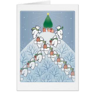 """""""Montaña del navidad"""" por Gerry O'Neill Tarjeta De Felicitación"""