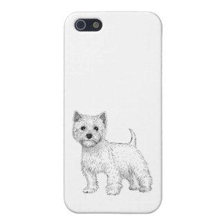Montaña del oeste Terrier de la caja 5/5s del iPhone 5 Protectores