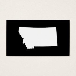 Montana en blanco y negro tarjeta de negocios
