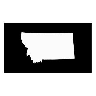 Montana en blanco y negro tarjetas de visita