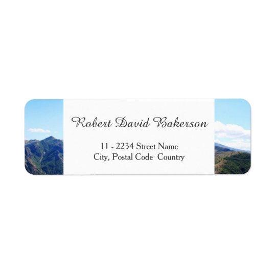 Montaña, fotografía del paisaje del cielo etiqueta de remite