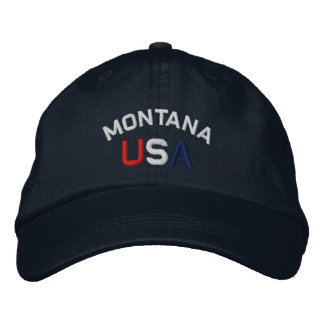 Montana los E.E.U.U. bordó el gorra de los azules  Gorra De Beisbol