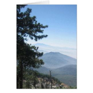 Montaña Vista Tarjeta De Felicitación