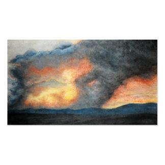 montañas ardientes (acuarela) tarjetas de visita