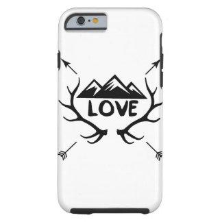 Montañas, astas y flechas del amor funda resistente iPhone 6