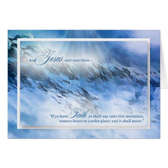Montañas azules del 17:20 de Matthew nada es Tarjeta De Felicitación
