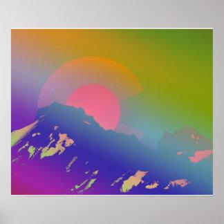 Montañas coloridas de Colorado Póster