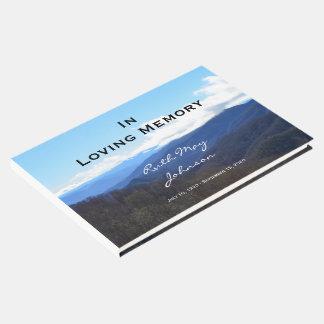 Montañas conmemorativas o libro de visitas fúnebre