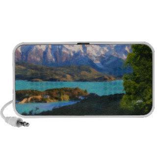 Montañas de Chile - Lago Pehoe en Torres del Pain Altavoces De Viajar