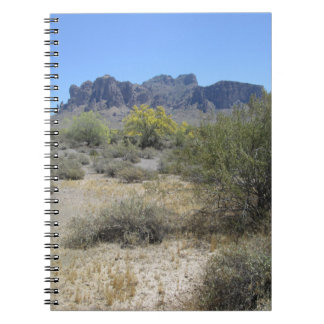 Montañas de la superstición cuaderno