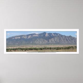 Montañas de Sandia en Bernalillo New México Póster