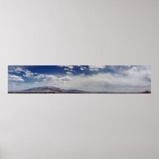 Montañas de Sandia panorámicas Poster