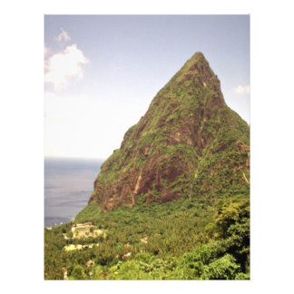 Montañas de Teton, St Lucia Folleto 21,6 X 28 Cm