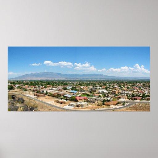 montañas del sandia de Albuquerque Poster