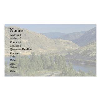 Montañas desnudas plantilla de tarjeta de negocio