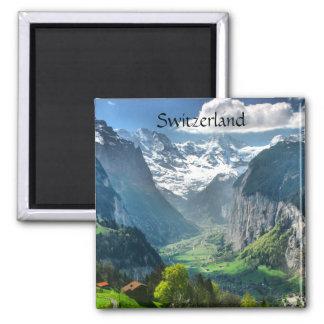 Montañas impresionantes de Suiza del imán del refr