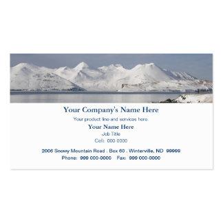 Montañas nevadas, día de invierno tarjetas de visita