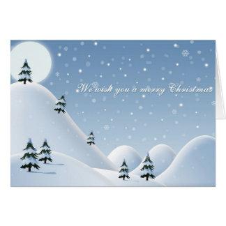 Montañas Nevado de la tarjeta de Navidad