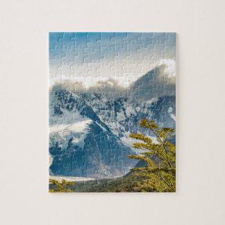 Montañas Nevado los Andes, EL Chalten la Argentina Puzzle