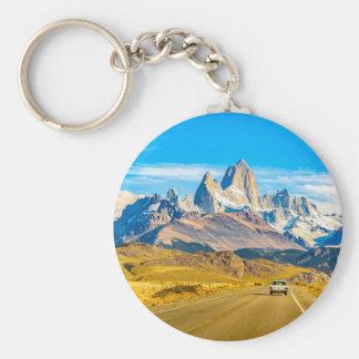 Montañas Nevado los Andes, EL Chalten, la Llavero Redondo Tipo Chapa