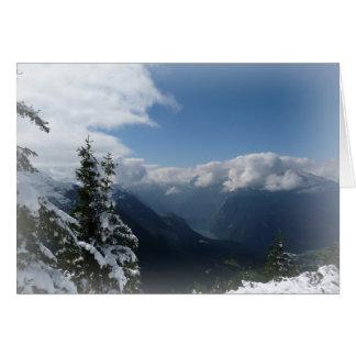Montañas Nevado Tarjeta De Felicitación