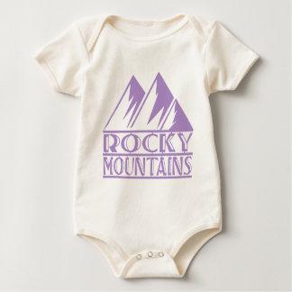 Montañas rocosas body para bebé