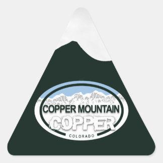 Montañas rocosas de Colorado de la montaña de Pegatina Triangular