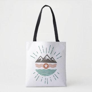Montañas, sol y océano bolso de tela
