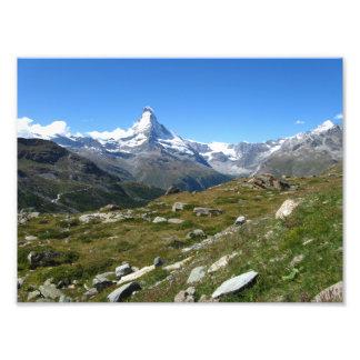 Montañas suizas de Cervino, impresión de la foto