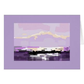 Montañas violetas del paisaje marino de Mournes de Tarjeta De Felicitación
