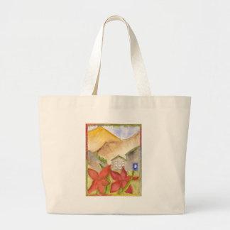 Montañas y flores bolsa