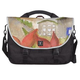 Montañas y flores bolsas de portatil
