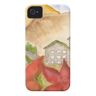 Montañas y flores iPhone 4 protectores