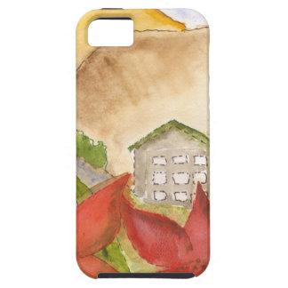 Montañas y flores iPhone 5 Case-Mate fundas