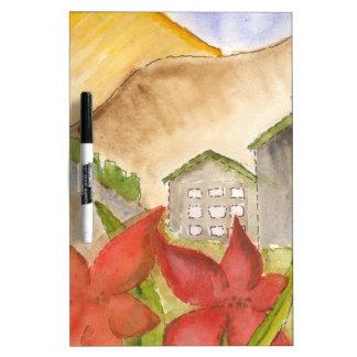 Montañas y flores tableros blancos