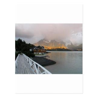 Montañas y lago, Chile Postal