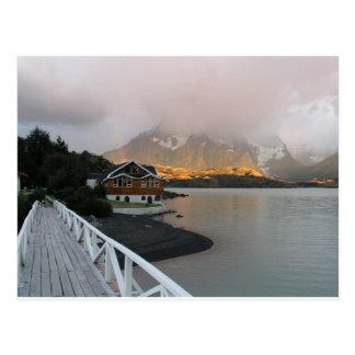 Montañas y lago, Chile Postales