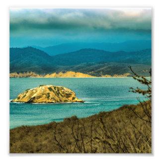 Montañas y mar en el parque nacional de Machalilla Foto