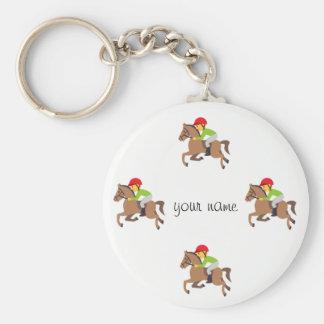 """Montar a caballo de Emoji y '' su nombre aquí """" Llavero"""