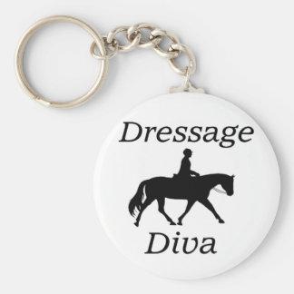 Montar a caballo de la diva del Dressage Llavero Redondo Tipo Chapa