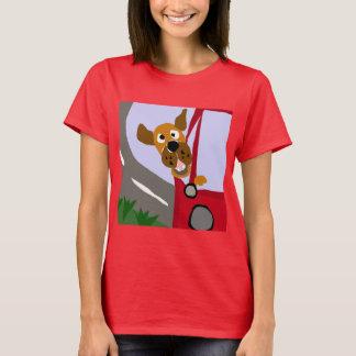 Montar a caballo divertido del perro del rescate camiseta