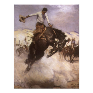 Montar a caballo ventoso por WHD Koerner vaquero Anuncio