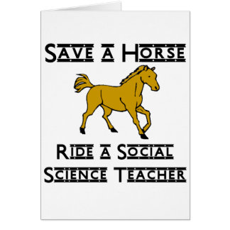 monte a un profesor de ciencias sociales tarjeta pequeña